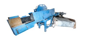 Venner Saw with a customer return conveyor.  return conveyors are built to order to customers neeeds