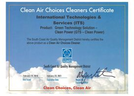 GTS-Clean Power SCAQMD Clean Air Choices Cleaners Certificates