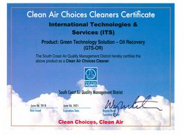 GTS-OR SCAQMD Clean Air Choices Certificates