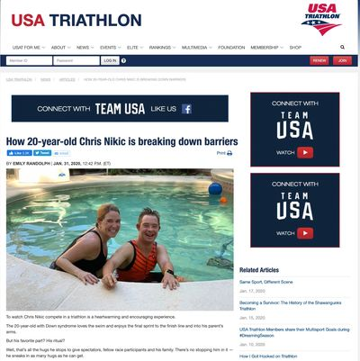 Link to USA triathlo Article
