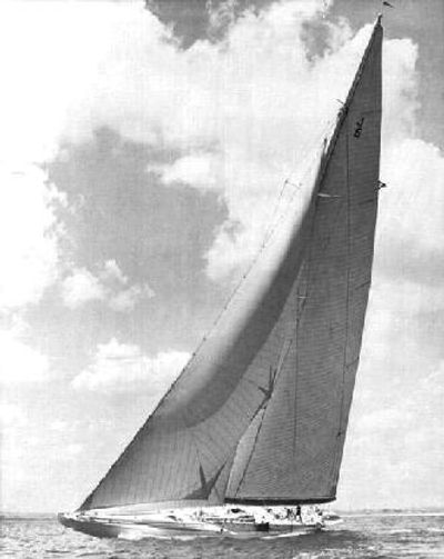 Photo #1 – Ranger under sail in 1937. Photo by Morris Rosenfeld