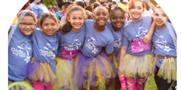 Image of girls credited to website of Girls On The Run, Inc.