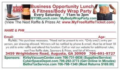 Get Your FREE RAFFLE TICKET Today