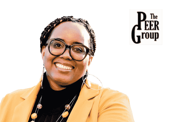 Headshot of Dr. Yvette E. Pearson with the Pearson Evaluation and Education Research Group logo.