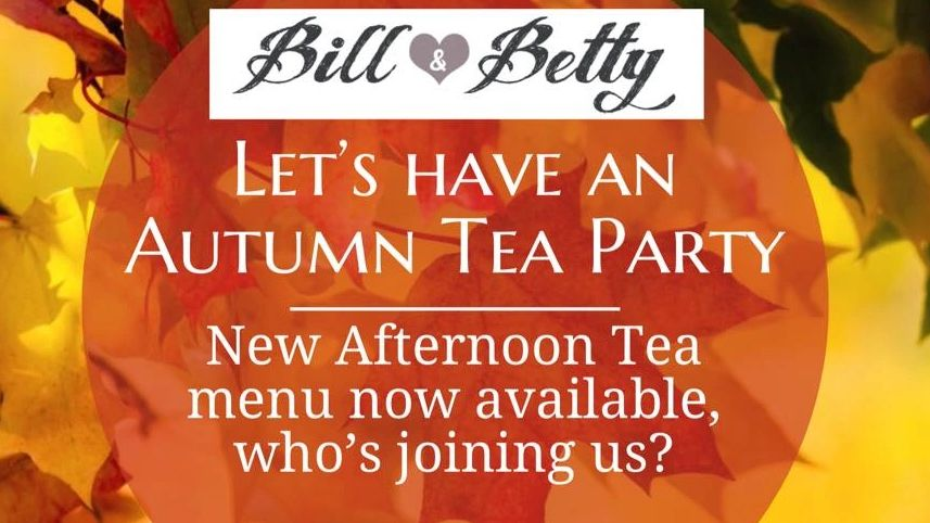 Autumn Tea Part at Bill and Bettys