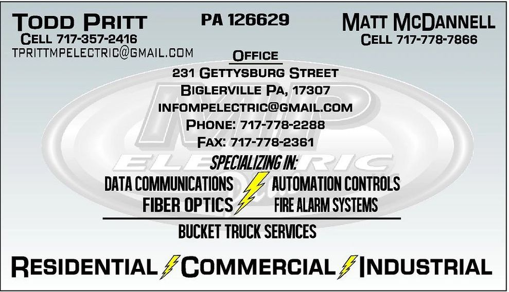 Business Card, contact information, services, owners