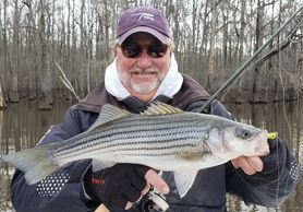 Winter fishing on the Neuse River, NC