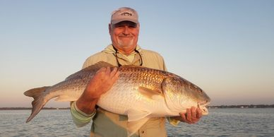 world class redfish on the fly! Oriental, NC