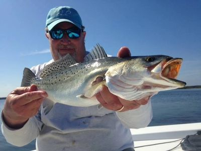Speckled seatrout fishing on the Neuse River.
