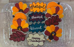 Thanksgiving Cutout Cookie Assortment tray