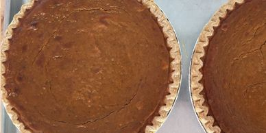 Pumpkin Pies, Apple Pies, Blueberry Pies, Chocolate Cream Pies