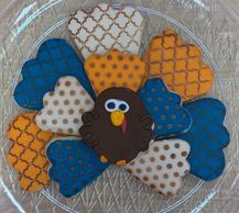 Turkey cutout cookie