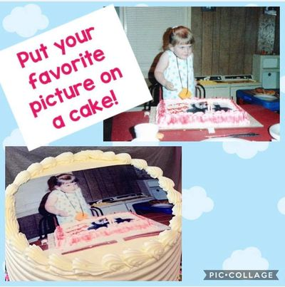 Print your photo on a cake. Photo cake edible image