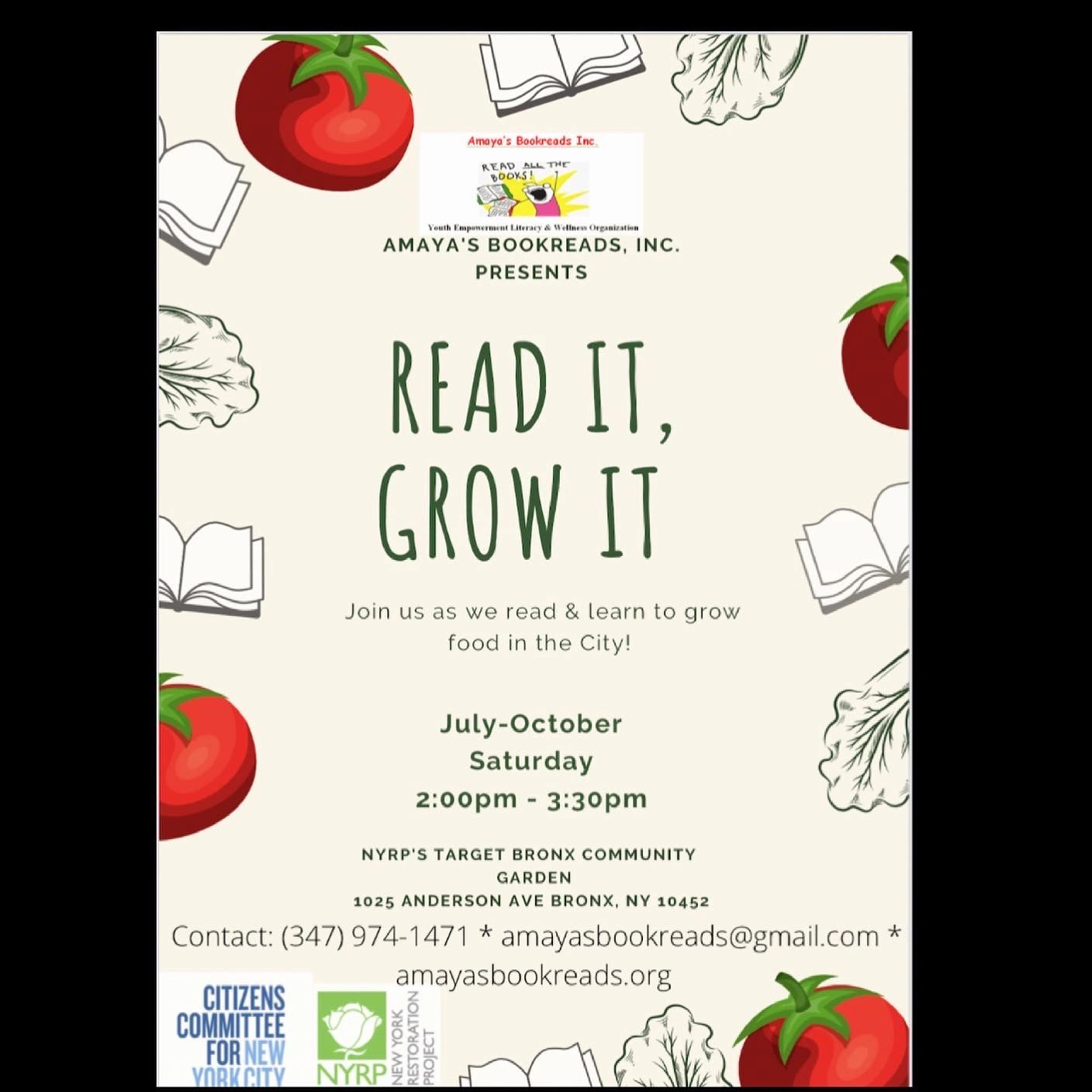 We're back! Read it, Grow it will be in Dyckman & Highbridge. Contact for more info.