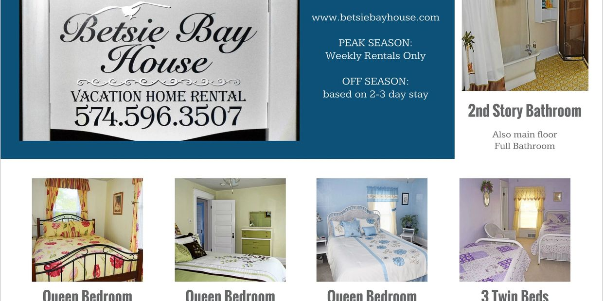 Frankfort Michigan Vacation Rental Betsie Bay house still has all the charm and grace it had over a century ago. We are located in a beautiful neighborhood and our home is pleasantly warm and inviting from the moment you walk through the door.