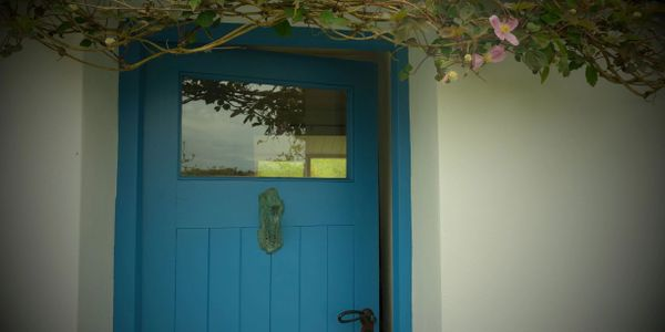 Blue door of the cottage at Ardnageena, Sheep's Head Peninsula