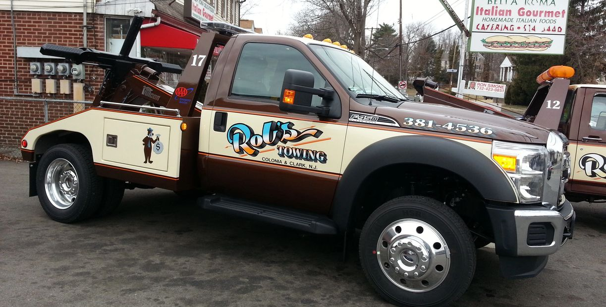 A truck used by our sign installation company in Warren County, NJ