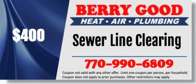 Sewer line clearing coupon