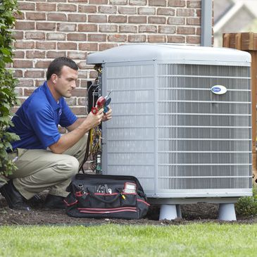 home AC repair technician