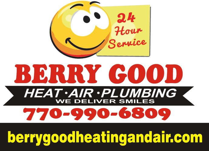 berry good heating-air-plumbing Logo and phone number