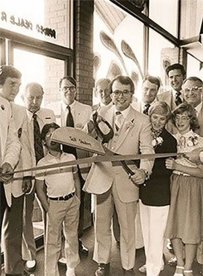 Ribbon Cutting For Jerry Seiner Chevrolet 1980