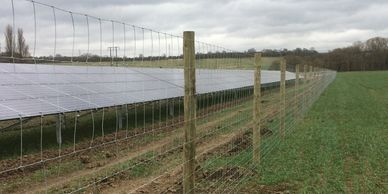 Solar farm fencing renewable energy fencing