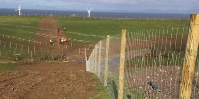 Wind turbine fencing
