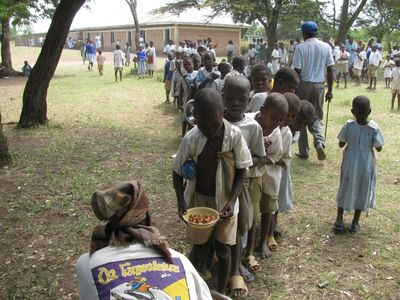 First Feeding Program started at      Amilo Primary School