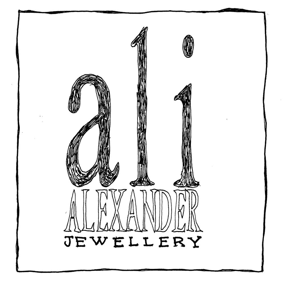 ali Alexander Jewellery handdrawn logo quirky jewellery  alternative jewellery
