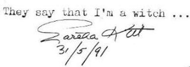Eartha Kitt autograph They say that I'm a witch I'd rather be burned as a witch than never be burned