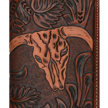 Long custom cowskull wallets