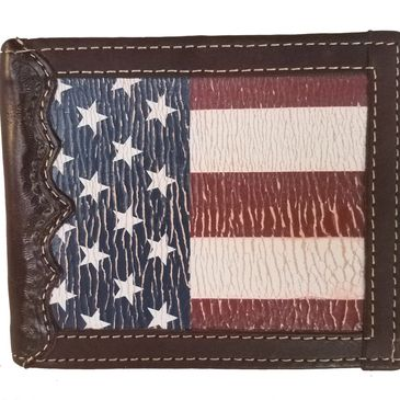 Custom bi-fold American Flag Wallets