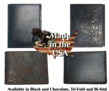 Soft harness leather wallets made in the USA