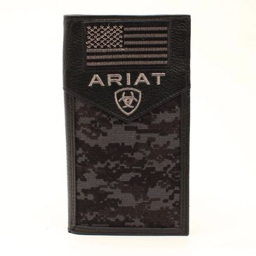 Custom ariat digital camo and US flag wallets A3536401