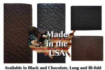 American made genuine buffalo hide wallets