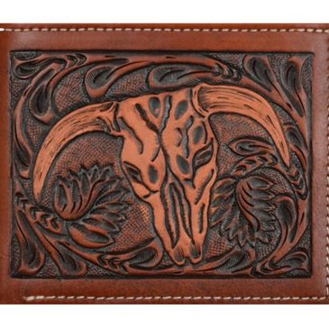 bi-fold custom cowskull wallets