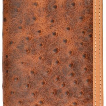 custom tony llama ostrich print leather wallets