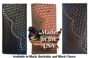 Custom basket weave wallets made in the USA