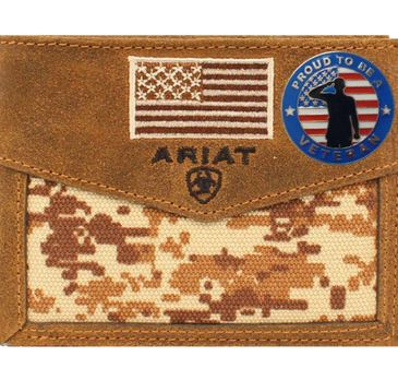Custom ariat digital camo and US flag wallets A3536844