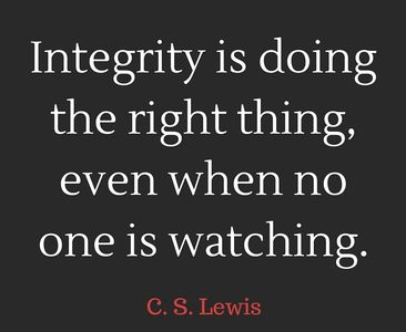 INTEGRITY-BASED BUSINESS VALUES