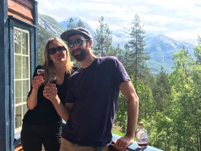 Me and my wife Jeanette at her family's home in the mountains of Norway.