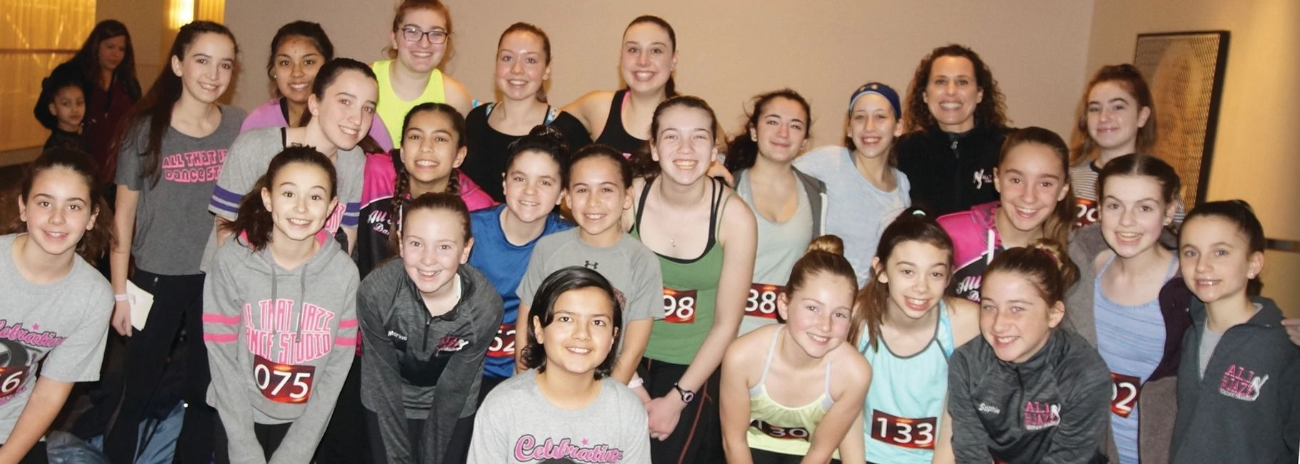 All That Jazz Dance Studio at a dance convention.  Children learning ballet, tap, jazz, and hip hop.