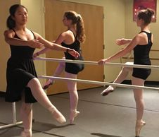 Pointe class and pre-pointe class for teenagers at All That Jazz