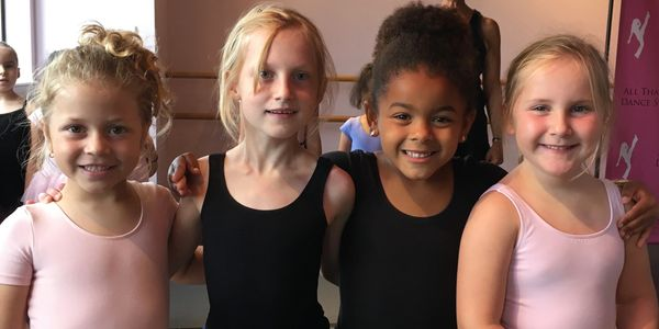 Dance friends at ballet/tap class at All That Jazz Dance Studio