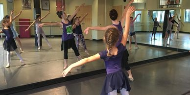 Ballet class for children with Miss Lindsay