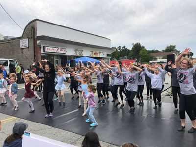 Outdoor performances at All That Jazz Dance Studio in newton