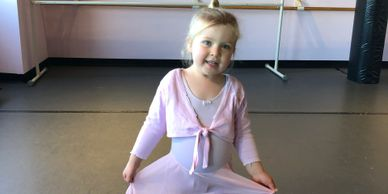 Little ballerina dancing at All That Jazz Dance Studio in Newton, MA