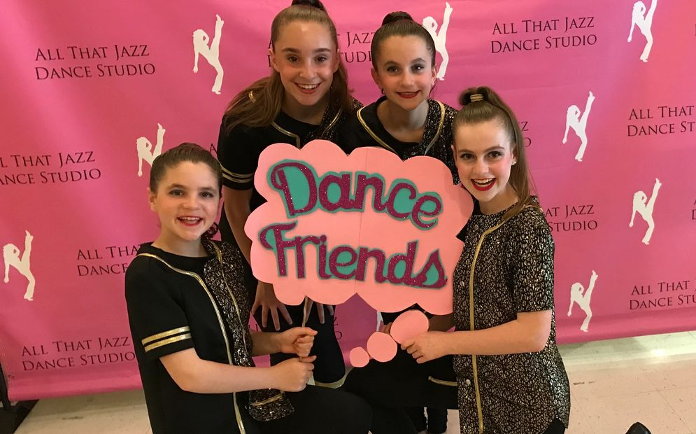 Dance friends at Dance class for children in Newton, MA