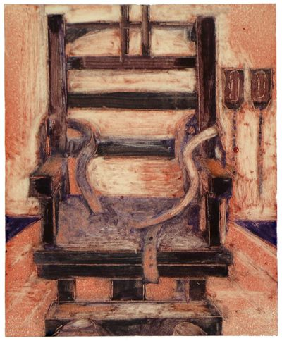 "THE FIRST CHAIR,  Monotype,  Image Size: 6.5"" h X 4"" w"