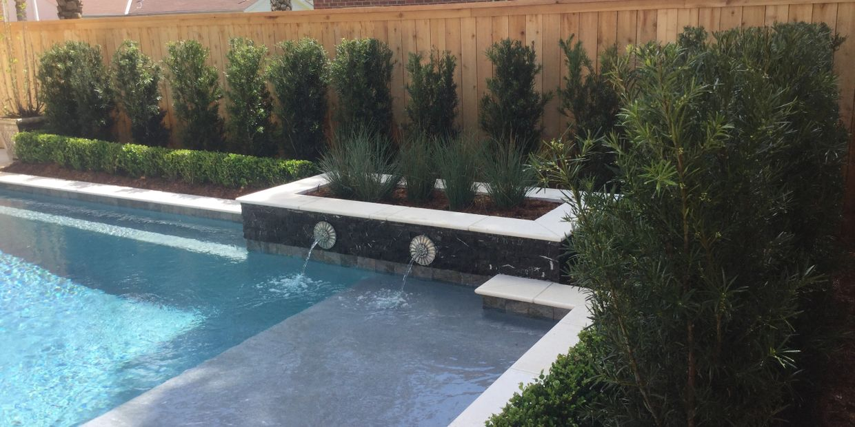 Pool landscaping Metairie ,New Orleans, Kenner, Lake view, Harahan